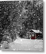 Made In Maine Winter  Metal Print