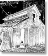 Madeline S Barn - Black And White Metal Print
