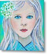 Madelyn Little Angel Of Clear Vision Metal Print