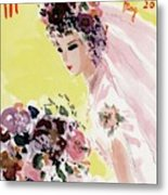 Mademoiselle Cover Featuring A Bride Metal Print