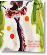 Mademoiselle Cover Featuring A Model Wearing Metal Print