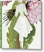 Mademoiselle Cover Featuring A Woman Carrying Metal Print