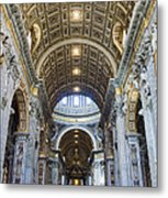 Maderno's Nave Ceiling Metal Print