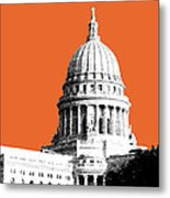 Madison Capital Building - Coral Metal Print