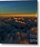 Madison Wi Sunset At 30000 Metal Print