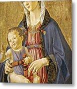 Madonna And Child Metal Print by Domenico Bigordi Domenico Ghirlandaio