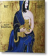 Madonna And Child Metal Print by Eve Riser Roberts