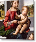 Madonna And Child With The Young Saint John The Baptist Metal Print