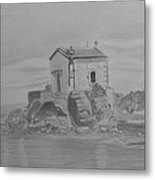 Madonna Mermaid Church Lesbos Metal Print