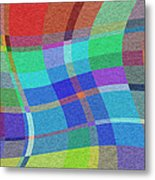 Madras Twist Metal Print
