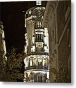 Madrid At Night Metal Print