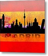 Madrid City Metal Print