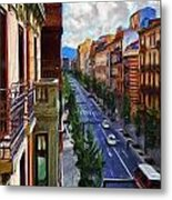 Madrid Morning Metal Print