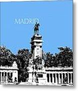 Madrid Skyline Retiro Park - Light Blue Metal Print