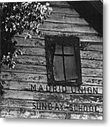 Madrid Union Sunday School Ghost Town Madrid New Mexico 1968-2008 Metal Print