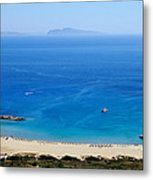 Maganari Beach Metal Print