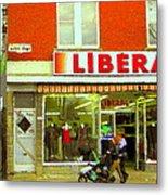 Magazin Liberal Notre Dame Ouest Dress Shop Strolling  St. Henri  Street Scenes Carole Spandau Metal Print
