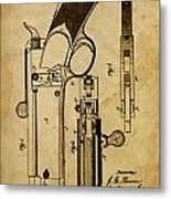 Magazine Fire-arm - Patented On 1877 Metal Print
