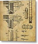 Magazine For Firearms - Patented On 1908 Metal Print