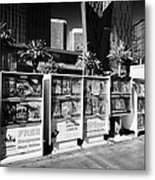 magazine stands free coupons guides and escort directories Las Vegas Nevada USA Metal Print by Joe Fox