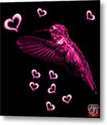 Magenta Hummingbird - 2055 F Metal Print