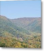 Maggie Valley In The Fall Metal Print