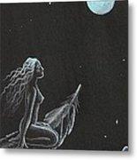 Magic Crow Feather Metal Print