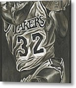 Magic Johnson - Legends Series Metal Print by David Courson