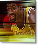 Magic Johnson Metal Print