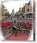 Magic Kingdom Walt Disney World 3 Panel Composite Metal Print