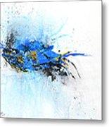 Magical Blue 1- Abstract Art Metal Print by Ismeta Gruenwald