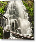 Magical Falls - Fairy Falls In The Columbia River Gorge Area Of Oregon Metal Print