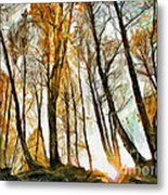 Magical Forest - Drawing Metal Print