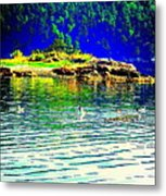 Floating On The Magical Mystery Tour Metal Print