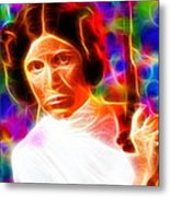 Magical Princess Leia Metal Print
