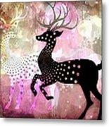 Magical Reindeers Metal Print