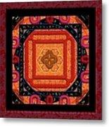 Magical Rune Mandala Metal Print