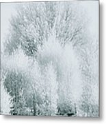 Magical Snow Palace Metal Print