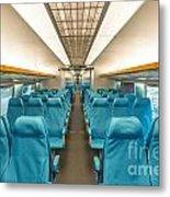 Maglev Train In Shanghai China Metal Print