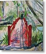 Magnolia Bridge Metal Print