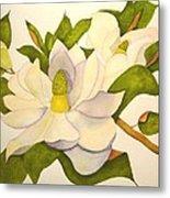 Magnolia Cluster Metal Print