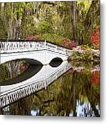 Magnolia Gardens' Bridge Metal Print