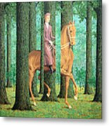 Magritte's The Blank Signature Metal Print