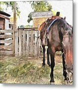Mahaffie Stagecoach Stop And Farm Metal Print