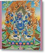 Mahankal Thangka Art Metal Print