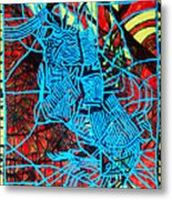 Maiden In Blue - Mary In The Temple Metal Print