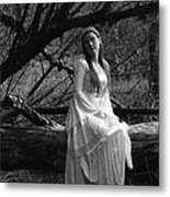 Maiden In The Forest Metal Print