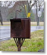 Mail Box Metal Print