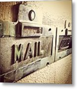 Mail Lost In Time Metal Print