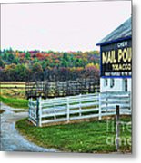 Mail Pouch Tobacco Barn In The Fall Metal Print